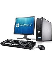 WiFi enabled Complete set of Dell OptiPlex Dual Core Windows 10 Desktop PC Computer (Renewed)