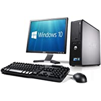 WiFi enabled Complete set of Dell OptiPlex Dual Core Windows 10 Desktop PC Computer (Certified Refurbished)