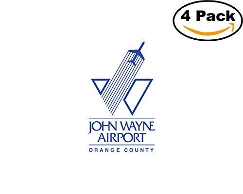 Transport John Wayne Airport Logo 4 Stickers 4X4 Inches Car Bumper Window Sticker - Wayne Airport John
