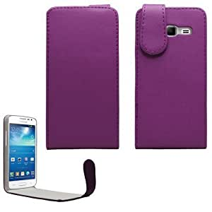 Sleek Gadgets® - Funda de Cuero con Solapa Púrpura Para Samsung Galaxy Express 2 SM-G3815