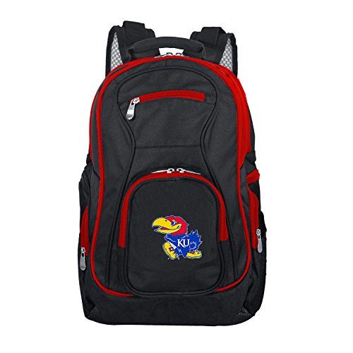 NCAA Kansas Jayhawks Colored Trim Premium Laptop Backpack ()