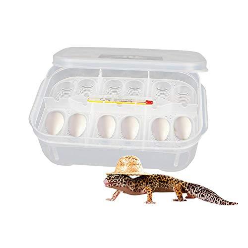 Zaote 12-Compartment Reptile Hatchery Box Lizard Small Reptile Breeding Box Reptile Breeding Box Incubator with Thermometer