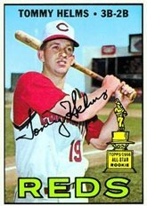 1967 Topps Regular (Baseball) Card# 505 Tommy Helms of the Cincinnati Reds VGX Condition ()
