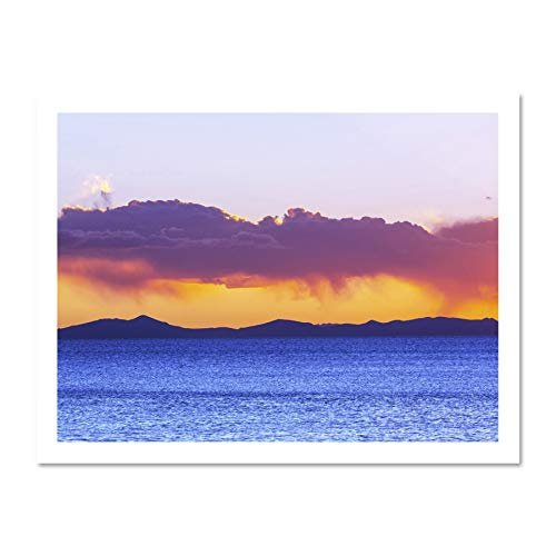 98aaf6899628 Landscape Lake Titicaca Bolivia Sunset Clouds Art Large Framed Art Print  Poster Wall Decor 18x24 inch Supplied Ready to Hang