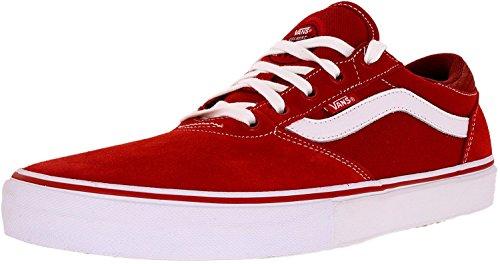 Shoe High Men's Crockett Gilbert Vans Red Ankle Pro White Pompeian Skateboarding wZPxH