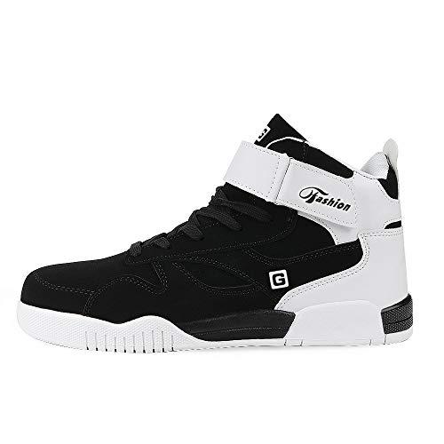 Muou High Sportive Da Casual Uomo Nero Sneaker Piatte top Sneakers 1 Comode Scarpe Bianche FTYFwqxpr