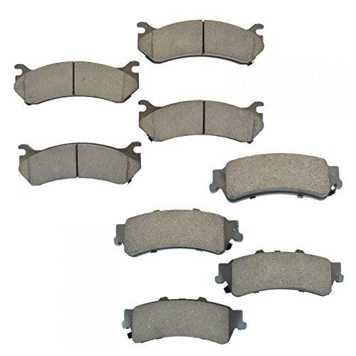 Premium Posi Ceramic Disc Brake Pad Front & Rear Kit for Chevy (Chevy Ceramic Front Brake Pad)