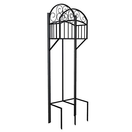 - Liberty Garden 119 Decorative Garden Hose Stand with Storage Shelf, Black
