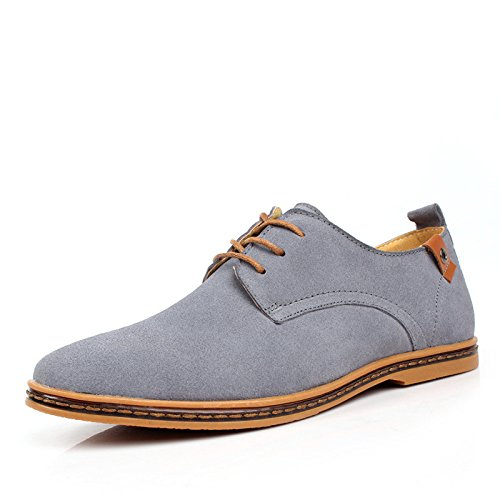 DHFUD Chaussures Casual en Daim pour Hommes Chaussures pour Hommes Gray N4p0FFsvk