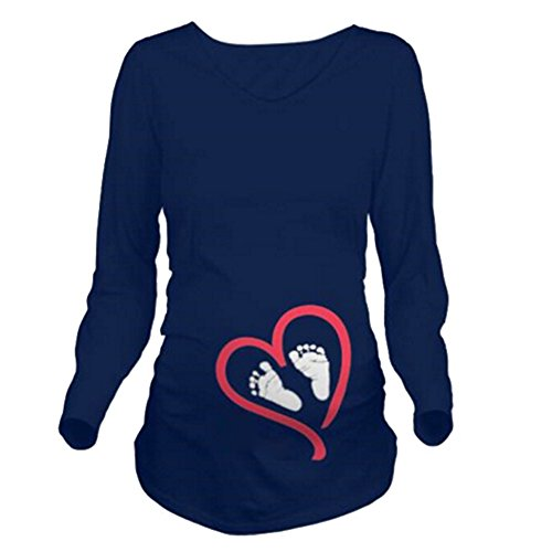 Yying Magliette Donne Estive Maternit shirt Incinta Le Incinte T Solide Per HawrHq