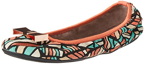 Ballet up Flats Coral Twists Coral Cracked Print Chloe Butterfly Fold n0qSHPxOw