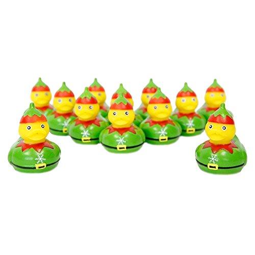 Christmas Elf Rubber Duckies - 12 pc (Christmas Elf Toy)