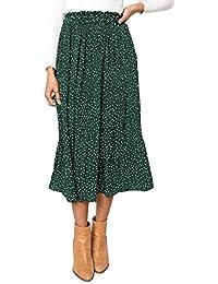 Women's Fashion High Elastic Waist Polka Dot Printed...