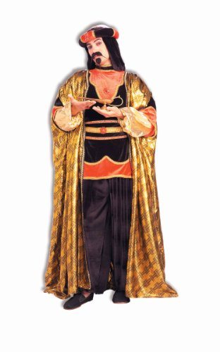 Forum Novelties Royal Sultan Costume, Black/Gold, One (Arabian Costume Male)