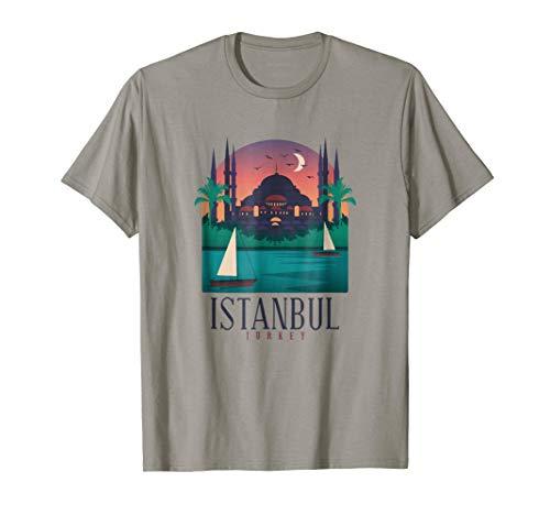 Istanbul Skyline T Shirt Graphic Vintage Souvenir Tee