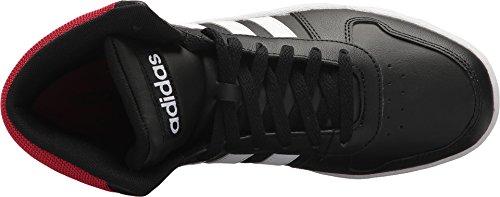 Adidas Menns Vs Hoops Mid 2,0 Svart / Hvit / Scarlet