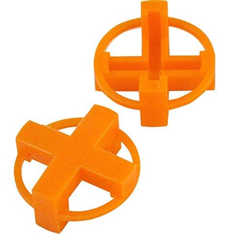 1/4'' Tavy 4-Corner View Tile Spacers Box 500 pcs (orange)