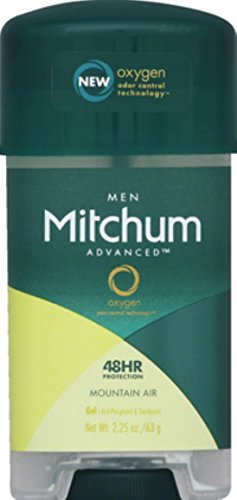 Alcohol Anti Free Gel Perspirant - Mitchum Anti-Perspirant and Deodorant, Power Gel, Mountain Air, 2.25 Ounce (63 Gram) (Pack of 6)