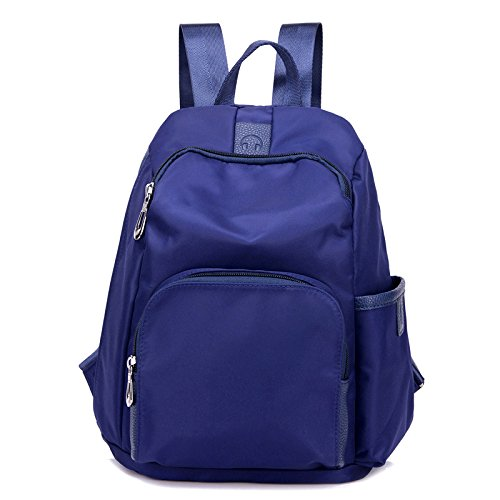 Backpack Waterproof Nylon Casual Women's Small Shoulder Bag Backpack Single Trip, Blue-21 * 11 * 33cm Blue