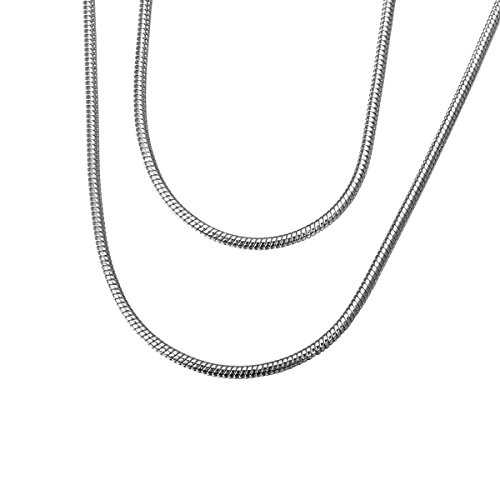 HOUSWEETY Stainless Unisex Necklace Silver