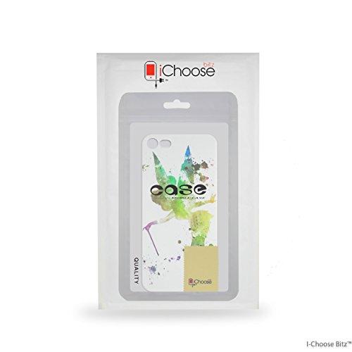 iPhone 5/5s Arte de Fan Estuche de Silicona / Cubierta de Gel para Apple iPhone 5s 5 SE / Protector de Pantalla y Paño / iCHOOSE / Campanilla Campanilla