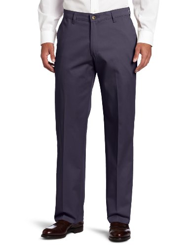 Lee Comfort Waist Jeans (Lee Men's Comfort Waist Custom Relaxed Fit Flat Front Pant, New Navy, 38W x 30L)