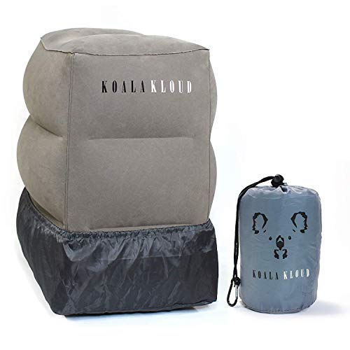 Koala Kloud Airplane Footrest - Inflatable Pillow For Kids Travel | Toddler Plane Accessories |  Bed Pillows For Long Car Trips | 1st Class Airtravel & Accessory For Office