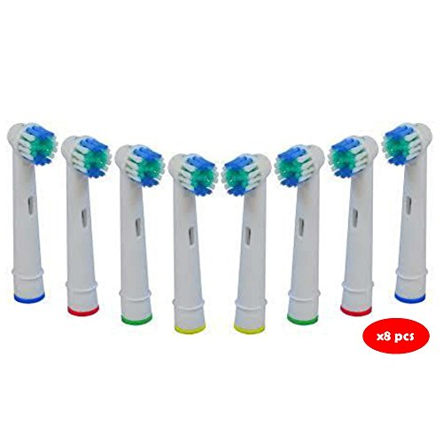 Oral B Generic Braun Electric Toothbrush Replacement Brush Heads - 8 Pack - Highest Quality Generic
