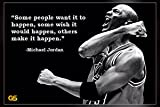 'Some People Want' Michael Jordan Quotes Poster Print 12 x 18 inch (Rolled)