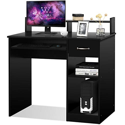 Price comparison product image Notebook Table PC Workstation Computer Desk Office Home Furniture with Drawer Black