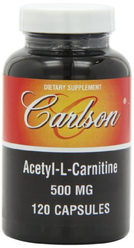 - Carlson Labs Acetyl L-Carnitine, 500mg, 120 Capsules