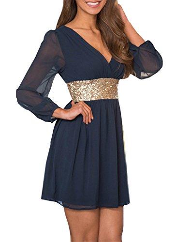 Buy belted chiffon dress new look - 1
