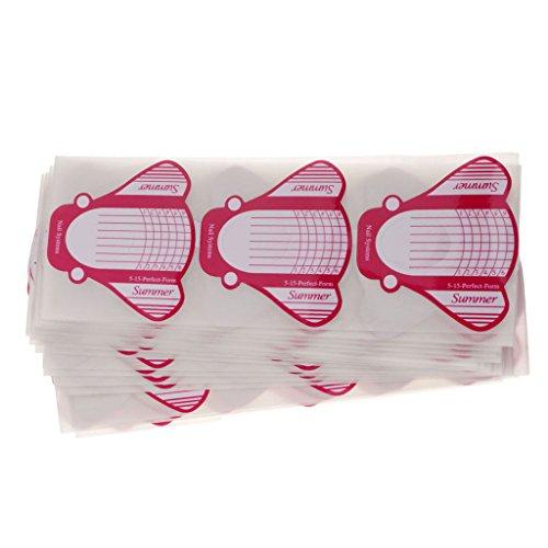 Sharplace 100 Pcs Chablon Ongle Décoration de Nails Form Soins des Ongles - Outil Nail Art Manucure - Jaune