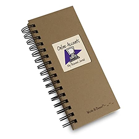 Keep track of your many, many login and password information in the perfect size journal; enough space for writing but compact enough to slide into your desk drawer. Tabbed alphabet pages help keep locations of websites organized and easy to find! (3...