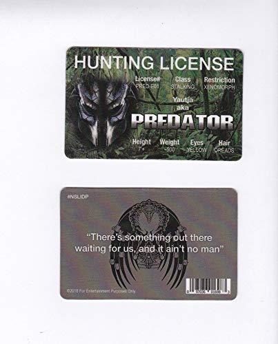 Yautja aka Predator Hunting License Drivers License/ Fun Fake id Card