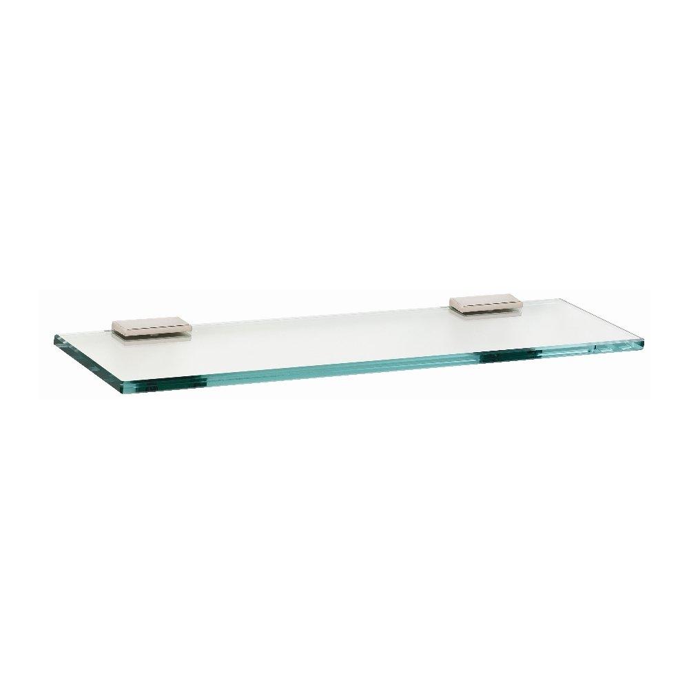 Alno A7550-24-PN Modern Arch Glass Shelf with Brackets, 24'', Polished Nickel