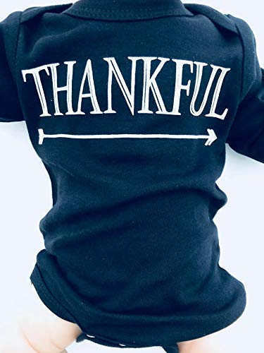 Newborn Thankful Outfit, Thanksgiving Baby, Fall Baby Clothes, Long Sleeve, Up to 12.5 lbs
