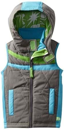 CROCS Little Boys' Puffer Vest, Charcoal, 2T