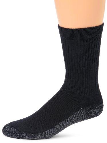 Magnum DC-2 Steel Toe Cotton Crew Sock, 3 Pair Pack (Black, Medium)