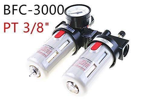 Fevas BFC3000 3//8 Air Filter Regulator Combination Lubricator,FRL Two Union Treatment,BFR3000 BL3000
