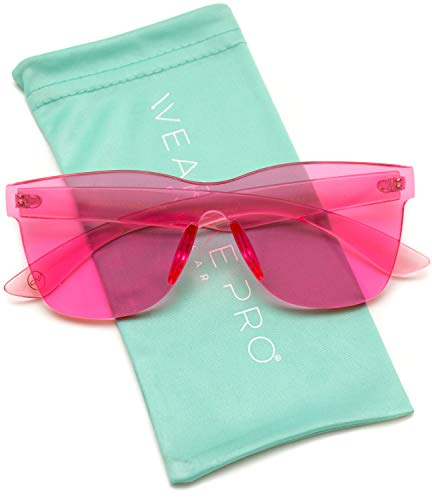 WearMe Pro - Horn Rimmed Tinted Colorful Lens Rimless Sunglasses