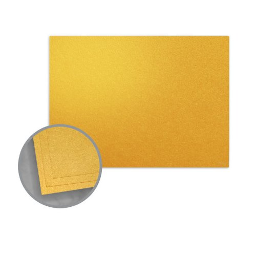 ASPIRE Petallics Gold Ore Flat Cards - A4 (3 1/2 x 4 7/8) 98 lb Cover Metallic C/2S 800 per Carton