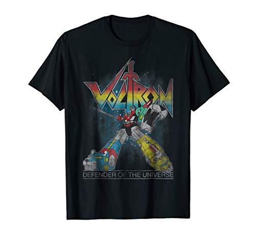 Voltron Retro Defender 80s Rainbow Graphic T-Shirt, S to 3XL