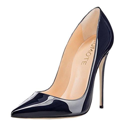 MERUMOTE - Zapatos de tacón fino Mujer Blue-Patent