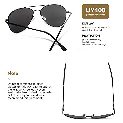 de Hombres Protección Occffy Gafas Lente Con Marco Para Metal Negro con Negro sol Mujeres Marco UV400 y 1qIHI5