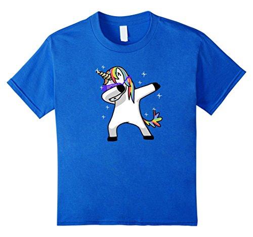 [Kids Dabbing Unicorn Shirt Dab Hip Hop Funny Magic 10 Royal Blue] (Teachers Pet School Girl Costume)