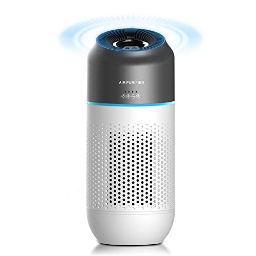 Car Air Purifier, Apark True HEPA with 4-Stage Filtration Air Cleaner for Car & Office, Eliminates Smoke, Dust, Pollen, Pet Dander,USB Powered with Negative Ion Portable Air Purifier