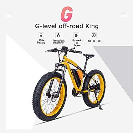 Shengmilo Bicicleta eléctrica Bafang Motor,26 Pulgadas Mountain E ...