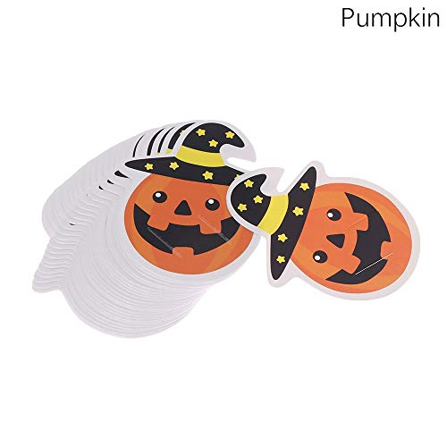 Lollipop Paper - 50pcs Pack Cute Ghost Pumpkin Style Halloween Gift Candy Decorations Paper Cards Lollipop Package - Russian Beginners Sprinkles Pieces Bags Printer Squeeze Congratulations La ()