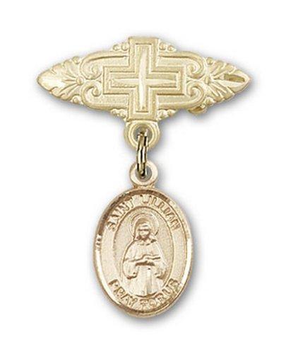 Icecarats Or Bijoux De Créateurs Rempli R. Broche De Badge Charme Lillian Avec Croix 1 X 3/4